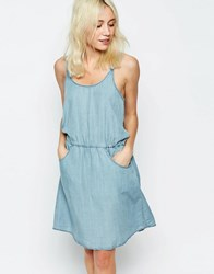 Only Denim Dress With Strappy Back Light Blue Denim