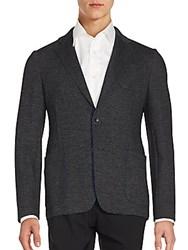 Armani Collezioni Long Sleeve Cotton Blend Sportcoat Grey