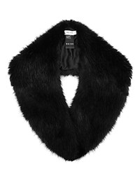 Reiss Betsy Faux Fur Collar Scarf Black