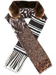 Pierre Louis Mascia 'Fancy' Scarf Brown