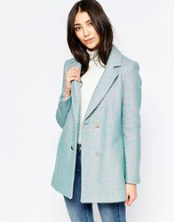Yumi Double Breasted Coat Duck Egg Blue