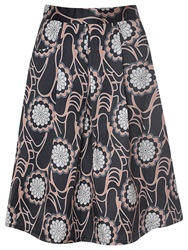 True Decadence Floral Midi Skirt Black