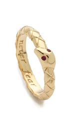 Monica Rich Kosann Never Fear Snake Ruby Ring Gold Ruby