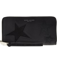 Marc Jacobs Star Patchwork Leather Continental Purse Black Multi