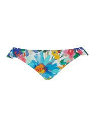 Polo Ralph Lauren Daisy Floral Cheeky Ruffle Bikini Hipster Brief Multi Coloured