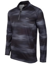 Greg Norman For Tasso Elba Printed Quarter Zip Jacket Only At Macy's Black Grey