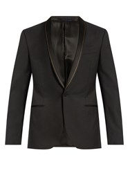 Lanvin Shawl Lapel Wool Tuxedo Jacket Black