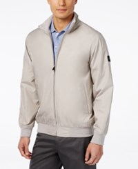 Greg Norman For Tasso Elba Men's Shell Jacket Only At Macy's Warm Grey