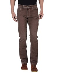 Jaggy Casual Pants Dark Brown