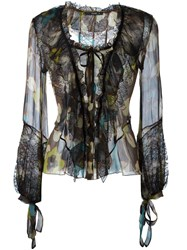 Etro Flower Print Longsleeved Blouse Multicolour