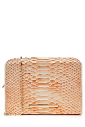 Roland Mouret Python Leather Shoulder Bag Orange