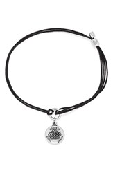 Women's Alex And Ani 'Queen's Crown' Cord Bracelet Silver