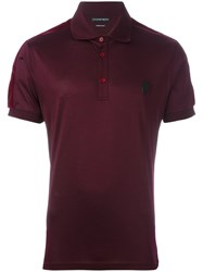 Alexander Mcqueen Skull Patch Polo Shirt Pink And Purple