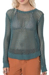 O'neill Women's 'Escape' Open Knit Cotton Pullover