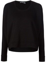 T By Alexander Wang 'Terry' Sweatshirt Black