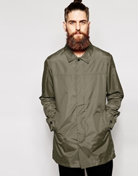 Asos Lightweight Trench Coat Olivegreen