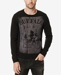 Buffalo David Bitton Men's Wicrane Graphic Print Sweater Cannon
