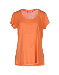Angelo Marani Short Sleeve T Shirts Orange