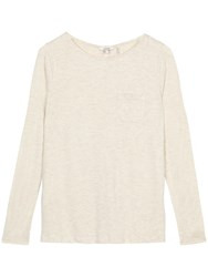 Fat Face Maltby Button Back Top Soft Ivory