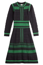 M Missoni Knit Dress With Metallic Thread Multicolor