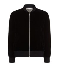 Frame Velvet Bomber Jacket Female