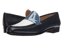Gravati Calf Leather Loafer Navy White Blue
