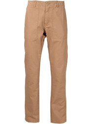 Saturdays Surf Nyc Straight Leg Trousers Brown