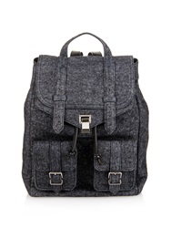 Proenza Schouler Ps1 Felt Charcoal Backpack