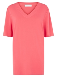 Windsmoor V Neck Tunic Top Coral