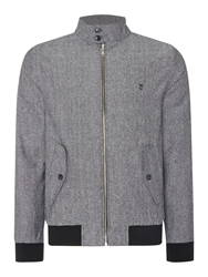 Peter Werth Jay Full Zip Bomber Jacket Charcoal