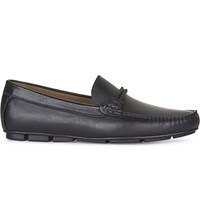 Aldo Fildes Leather Driving Shoes Black Leather