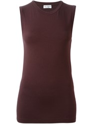 Brunello Cucinelli Classic Tank Top Red
