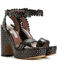 Tabitha Simmons Harlow Perforated Leather Sandals Black