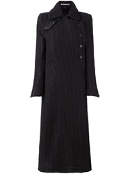 Ann Demeulemeester Double Breasted Coat Brown