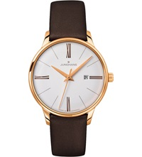 Junghans 047 757100 Meister Stainless Steel Quartz Watch White