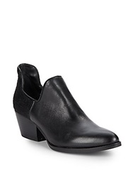 Kenneth Cole Hayden Leather And Calf Hair Booties Black