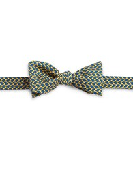 Brooks Brothers Printed Silk Bow Tie Yellow