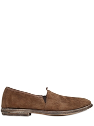Shoto Vintage Effect Suede Loafers Brown