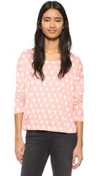 Chinti And Parker Heart Print Long Sleeve Tee Pastel Pink