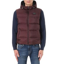Michael Kors Quilted Down Filled Gilet Burgundy
