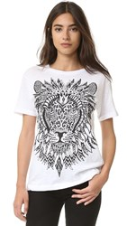 Happiness Lion Tee White