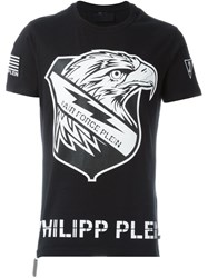 Philipp Plein Eagle Print T Shirt Black