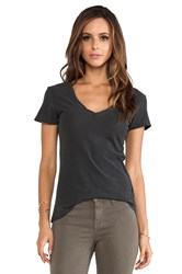 James Perse Casual Tee W Reverse Binding Charcoal