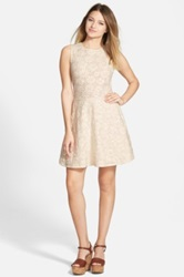 One Clothing Floral Lace Skater Dress Juniors White