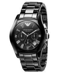 Emporio Armani Watch Men's Chronograph Black Ceramic Bracelet Ar1400