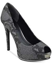 Guess Women's Honora Platform Pumps Women's Shoes Pewter