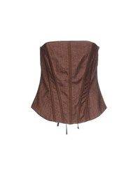Cristinaeffe Topwear Tube Tops Women Brown