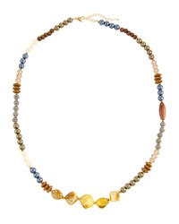 Emily And Ashley Greenbeads By Emily And Ashley Long Wooden And Crystal Beaded Necklace Women's