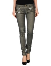 Shine Denim Pants Dark Green