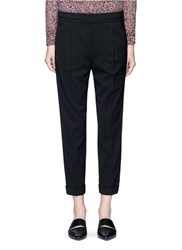 Vince Tapered Leg Rolled Cuff Pants Black